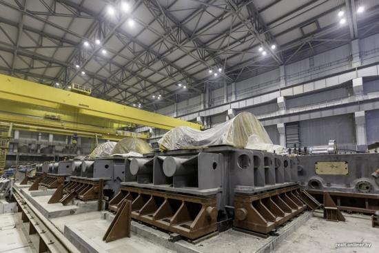 Беларуска АЕЦ – Завърши бетонирането на фундамента на турбината на втори енергоблок