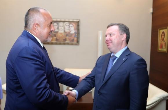 """Премиерът Бойко Борисов и първият заместник генерален директор на """"Росатом"""" Кирил Комаров обсъдиха съвместното сътрудничество в областта на ядрената енергетика"""