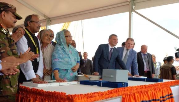 """Изляха """"първия бетон"""" в основните на Втори енергоблок на АЕЦ """"Рупур"""" в Бангладеш"""