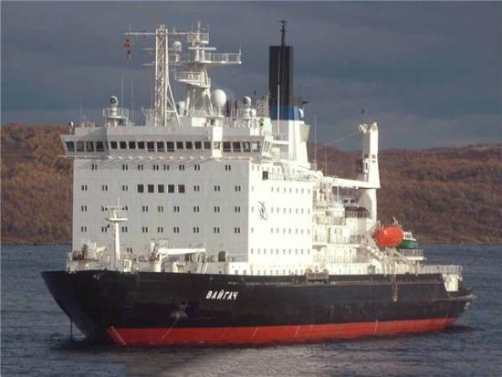 """Атомният ледоразбивач """"Вайгач"""" се върна в Мурманск след 3-месечна работа в Северния морски път"""