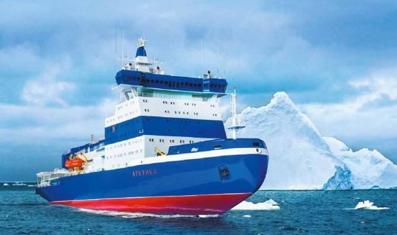 """Ходовите изпитания на атомния ледоразбивач """"Арктика"""" започват през ноември"""