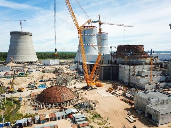 Ленинградска АЕЦ – Завърши заваряването на купола на вътрешната защитна обвивка (оболочка) на ядрения остров на строящия се втори енергоблок