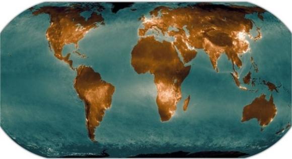 Карта на замърсяването на въздуха на Земята с азотен двуокис – NO2