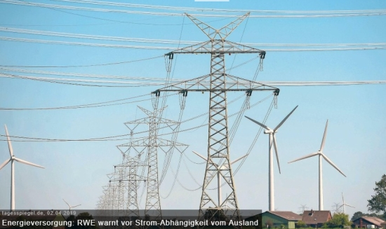 RWE предупреждава за бъдеща енергийна зависимост от други държави