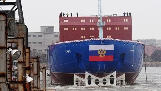 "В Санкт Петербург спуснаха на вода новия атомен ледоразбивач ""Урал"""