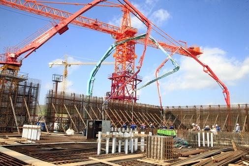 Курска АЕЦ-2 –Завърши бетонирането на фундамента на ядрения остров на втори енергоблок