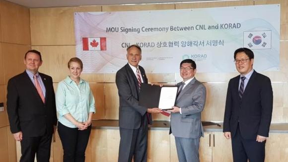 Канадски и корейски организации за управление на РАО ще си сътрудничат