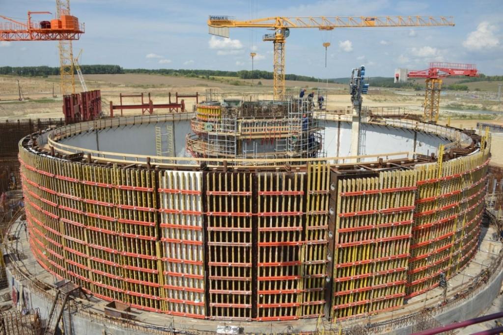 Курска АЕЦ-2 – Започна бетонирането на вътрешната защитна обвивка на ядрения остров на първи енергоблок