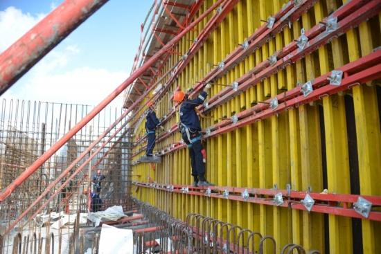 Курска АЕЦ-2 – започна бетонирането на външните стени на сградата на ядрения остров на втори блок с ВВЕР-ТОИ