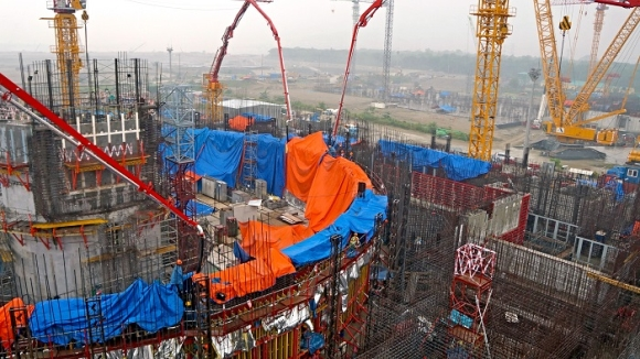 """На строителната площадка на АЕЦ """"Руппур"""" в Бангладеш e бетонирано първото платно на вътрешната защитна обвивка (ВЗО) на реакторното отделение"""
