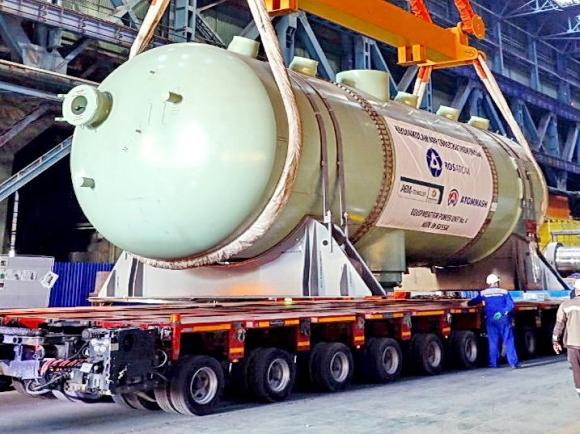 Вторият парогенератор за новия (четвърти) енергоблок на АЕЦ Куданкулам заминава за Индия