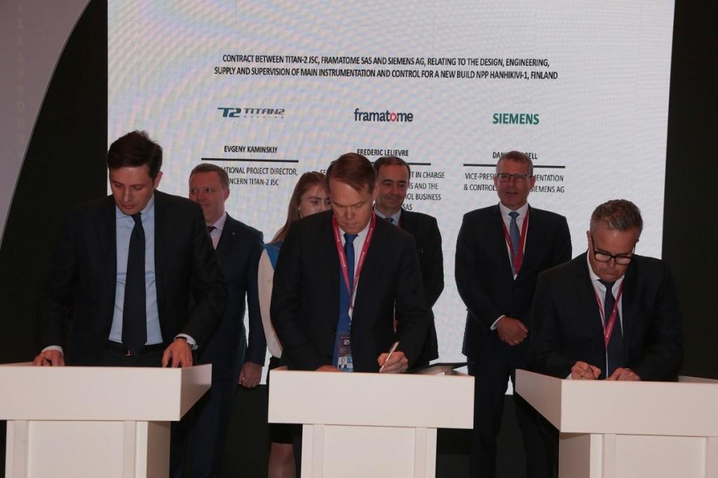 """ТИТАН-2 и консорциумът Framatome-Siemens подписаха договор за доставка на оборудване за АЕЦ """"Ханхикиви"""" 1 във Финландия"""