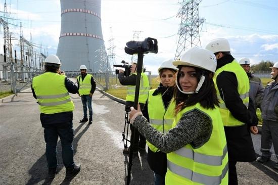Чуждестранни журналисти посетиха съоръженията на пусковия комплекс на Беларуската АЕЦ