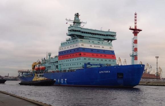 """Атомният ледоразбивач """"Арктика"""" излезе на морски изпитания"""