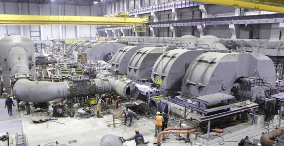 Ленинградска АЕЦ-2 – В изграждащия се енергоблок № 2 – ВВЭР-1200 за първи път бе завъртяна турбината