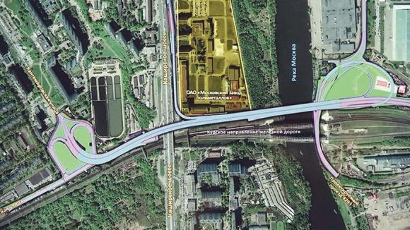 """""""Радон"""" огради площадка с радиоактивна почва по склона на Москва река"""
