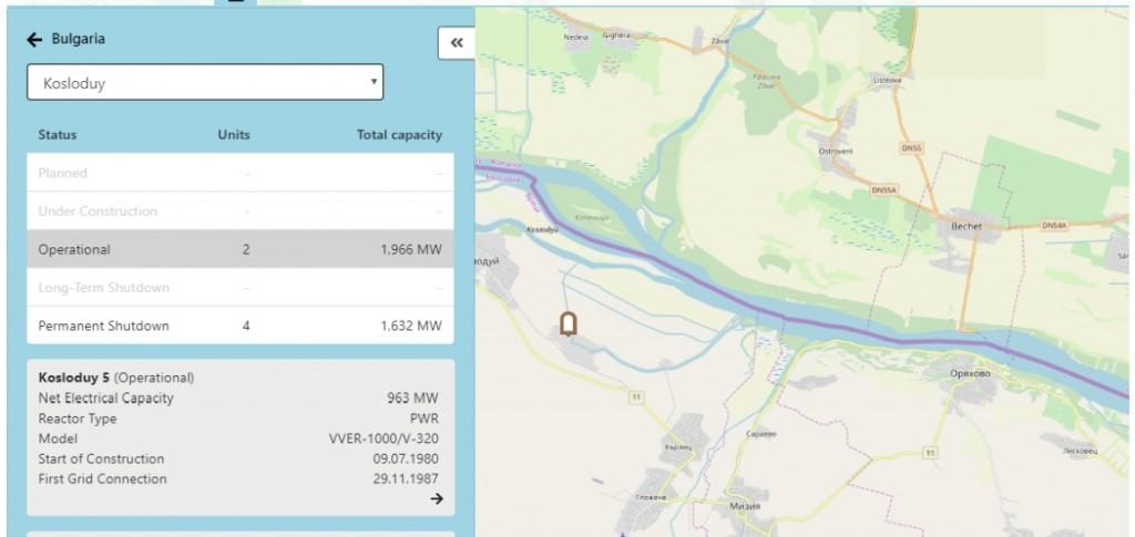 Всички АЕЦ и хранилища за РАО по света – интерактивна карта