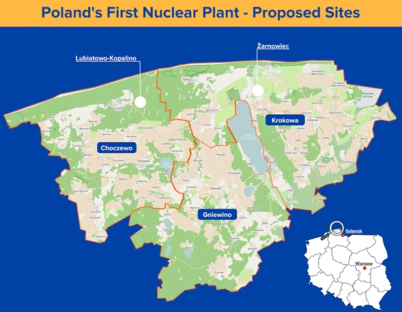 Полша – Над 70% от жителите в близост до предложените площадки подкрепят изграждането на АЕЦ
