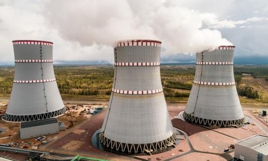 Ленинградската АЕЦ сдаде за експлоатация най-високата охладителна кула в северозападна Русия