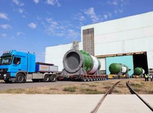 """""""Атоммаш"""" изпрати първия корпус на реактора за строящата се АЕЦ """"Аккую"""" в Турция"""