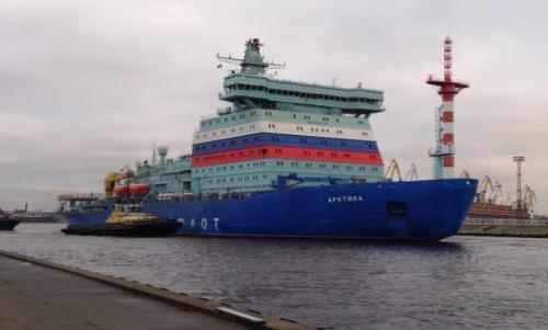 "Атомният ледоразбивач ""Арктика"" преодоля за 21 денонощия 8 хиляди километра от Санкт Петербург до Мурманск"