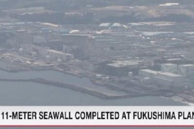 """Завършено е строителството на 11-метров вълнолом за защита на АЕЦ """"Фукушима-1"""""""