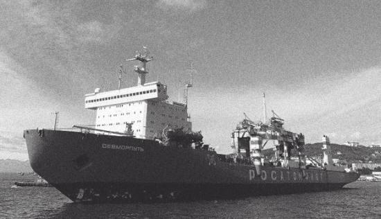 """Единственият в света граждански товарен кораб с ядрена тяга """"Севморпуть» прекъсна рейса си към Антарктида поради авария"""