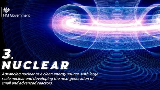 GB подкрепя ядрената енергетика като част от Зелената индустриална революция