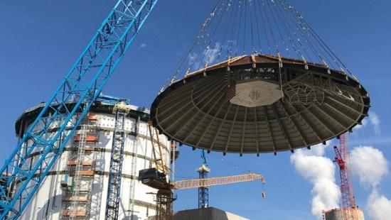 САЩ – АЕЦ «Vogtle» – Монтирано е защитното покитие на сградата на реактора на 4 блок