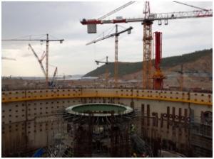 """АЕЦ """"Akkuyu"""" – В ядрения остров на изграждащия се първи енергоблок е монтирана опорната ферма с тегло 145 тона и още новини от площадката"""