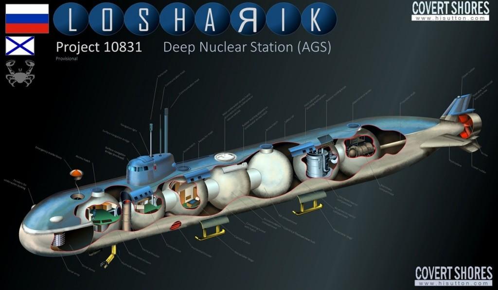 """Ремонтът на специалната атомна подводница """"Лошарик"""" ще продължи до четири години"""