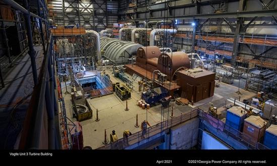 САЩ – Срокът за пускане в експлоатация на Vogtle-3 е изместен към първото тримесечие на 2022 година