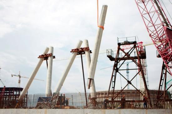 """В АЕЦ """"Курск-2″ започна строителството на втората най-висока охладителна кула в Русия"""