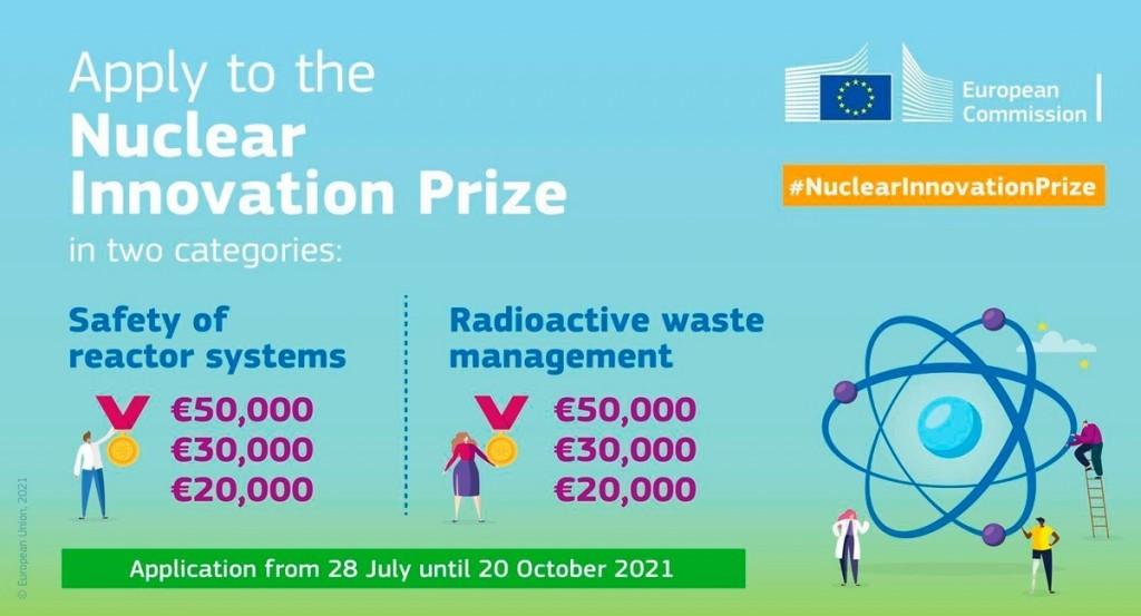 EURATOM учреди голяма международна награда за иновации в областта на безопасността на реакторните системи и управлението на радиоактивните отпадъци