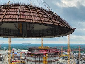 """На строителната площадка на АЕЦ """"Руппур"""" в Бангладеш е монтиран куполът на енергиен блок № 1"""